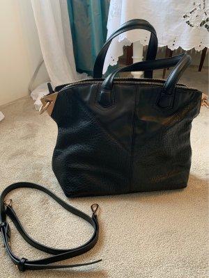 Schwarze Topshot Handtasche
