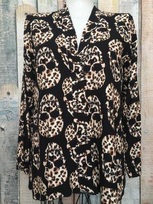 Schwarze Totenkopf Bluse von New Collection