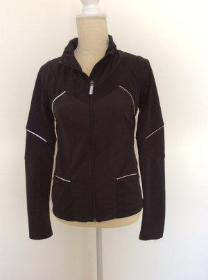 schwarze Trainingsjacke, Sportjacke, H&M Sport, Gr. 36/S