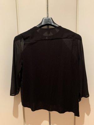 Schwarze transparente Bluse von Mango, Größe L