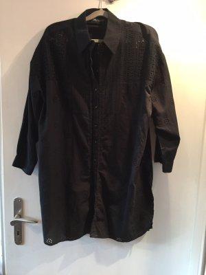 Zara Sukienka tunika czarny
