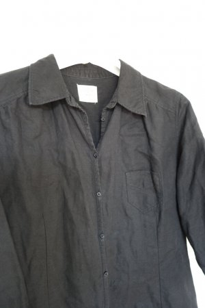 H&M L.O.G.G. Blusa larga negro Lino