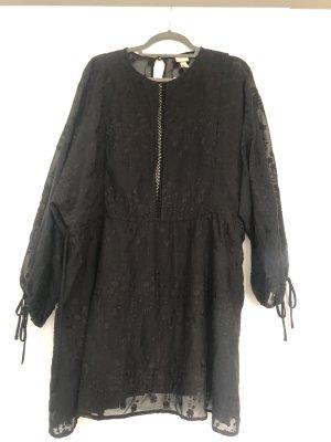 Schwarze Tunika Minikleid Größe S neu