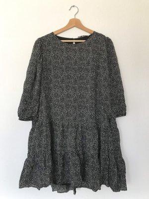 Zara Sukienka tunika czarny-biały