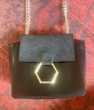 Asos Crossbody bag black-gold-colored