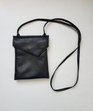 schwarze Umhängetasche Ledertasche von Proxy