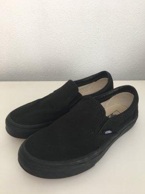 schwarze vans slip-on