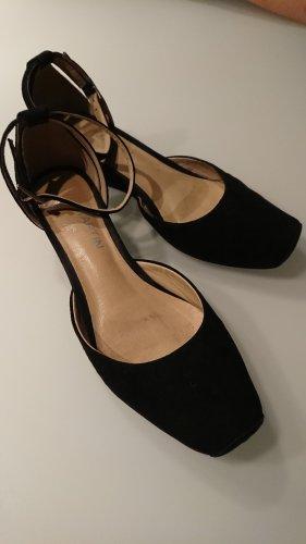 JB Martin 1921 Ballerina's met bandjes zwart