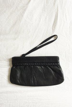 Vintage Clutch zwart Leer