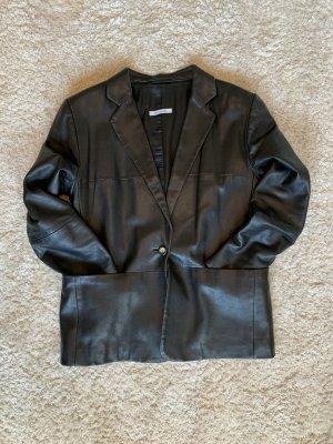 René Lezard Leather Jacket black