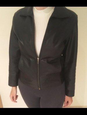 Joy Leather Jacket black-silver-colored