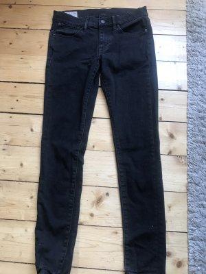 Schwarze Vintage Legging Jeans Ralph Lauren