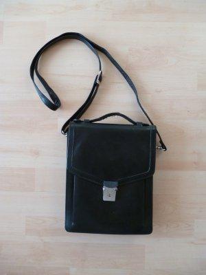 Schwarze Vintage Tasche mit Druckverschluss