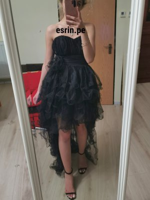 schwarze Vokuhila- Kleid