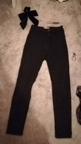 Schwarze washed Highwaist Jeans