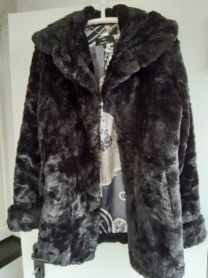Dennis Basso Winter Jacket black polyamide