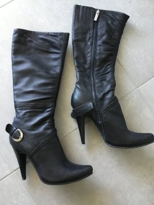 Winter Boots black leather