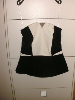 H&M Gorset biały-czarny Poliester