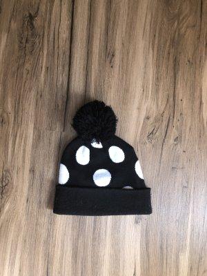 H&M Chapeau pointu blanc-noir