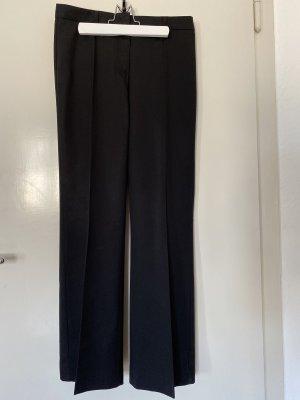Schwarze weite Anzughose