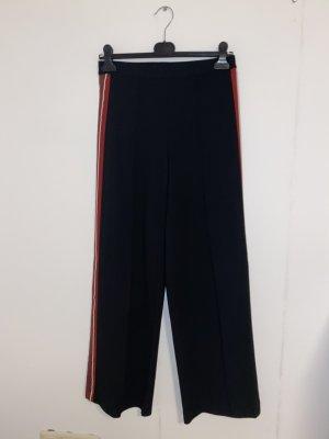 H&M Pantalone peg-top nero-rosso scuro