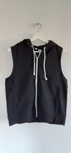H&M Divided Chaleco con capucha blanco-negro