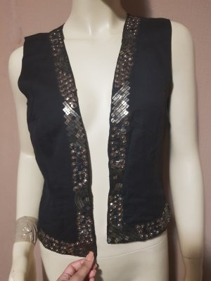 Traditional Vest black-gold-colored