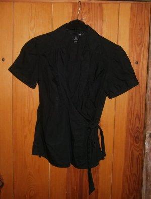 H&M Wraparound Blouse black cotton