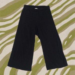 H&M Broek met wijd uitlopende pijpen zwart