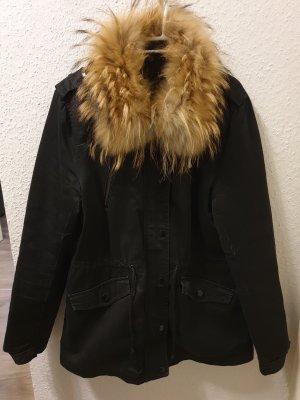 Attentif Winter Jacket black cotton