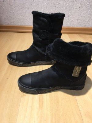 AQAQ Winter Booties black leather