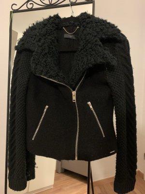 Diesel Giacca di lana nero-argento