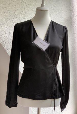 Schwarze wrap Bluse