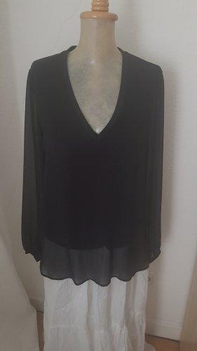 schwarze Zara Bluse