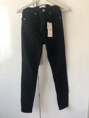 Schwarze Zara Jeans Vintage Look NEU!