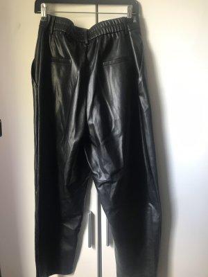 Schwarze Zara Paperbag Hose