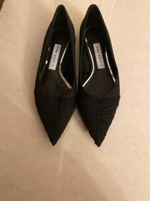 Zara Basic Ballerina's met kant zwart