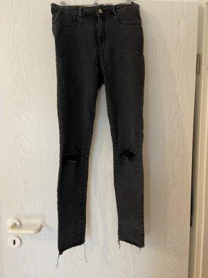 Schwarze Zara Stretch High Waist Jeans