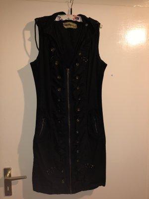 Desigual Vestido con capucha negro