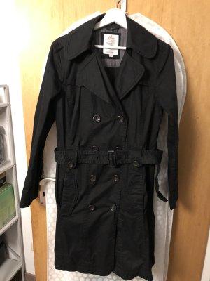 schwarzen Trenchcoat von S.Oliver in Größe 40