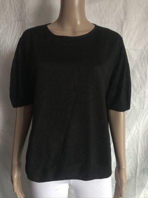 Schwarzer 3/4-Arm Pullover
