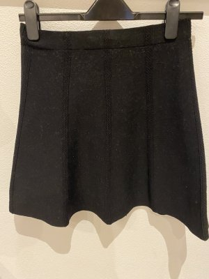 Zara Basic Flounce Skirt black