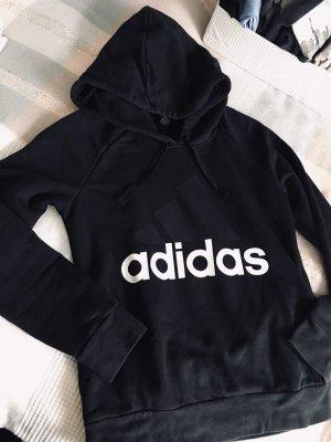 Schwarzer Adidas Kapuzenpulli