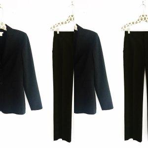 schwarzer anzug / hosenanzug / zara / business look / classy