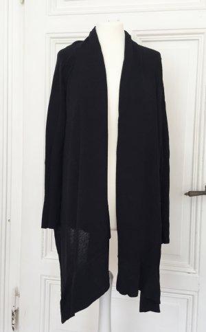 Schwarzer asymmetrischer dünner Cardigan