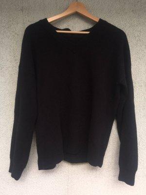 Schwarzer Baumwoll Pullover von Armedangels