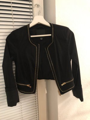 Amisu Short Blazer black-gold-colored