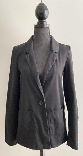 H&M Jersey Blazer black mixture fibre