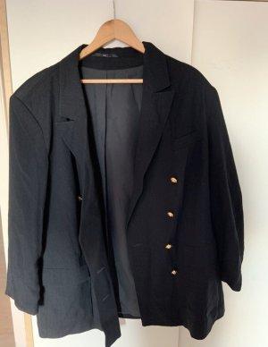 Hucke Blazer in jersey nero