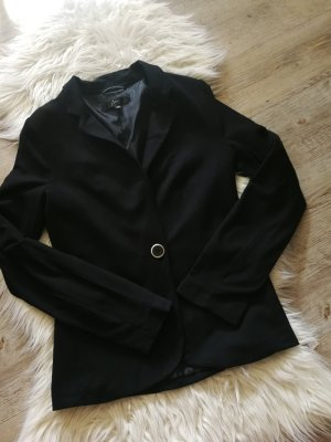 Ann Christine Blazer en jersey noir